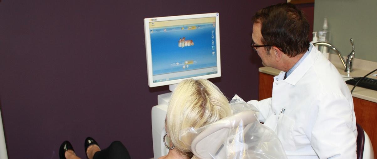 CEREC machine training by Dr Caselle